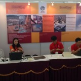 Trudy Matt and Sonny, part of the PLA China team at the PLA stand at IBAAS India