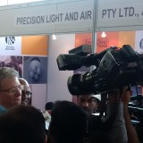 Special visitor at the PLA stand at IBAAS India expo