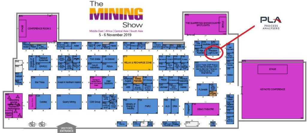 The Mining Show - 2019 floor plan