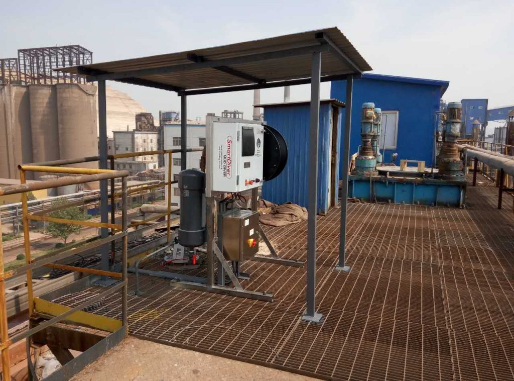 SmartDiver installed at one of Chalco's plants