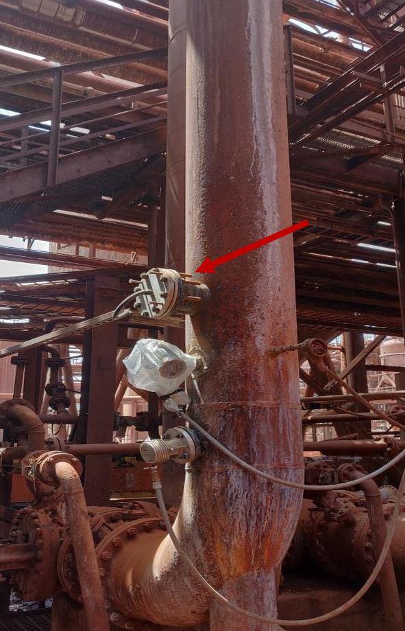 AL-DCIK point of installation at Jisco Alpart alumina refinery