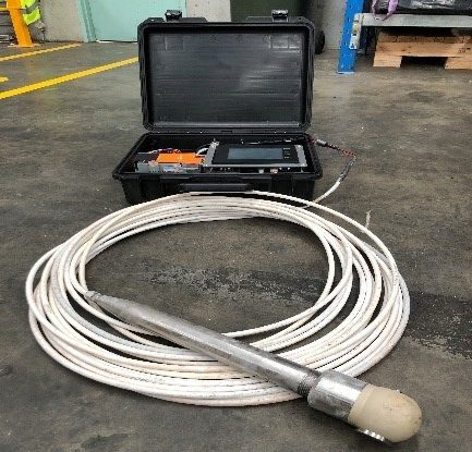 Portable thickener mud level and density measurement